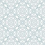 Grön sömlös Guillochebakgrund för vektor Arkivbilder