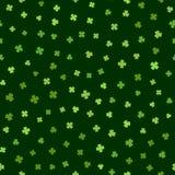 Grön sömlös modell för dag för St Patricks Royaltyfria Bilder