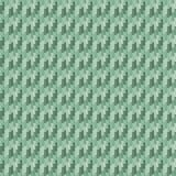 Grön sömlös stucken melangemodell royaltyfri illustrationer