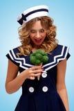 grön sötsak Fotografering för Bildbyråer