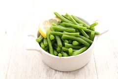 grön sallad för böna Arkivfoto