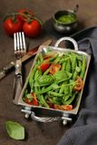 grön sallad för bönor royaltyfri bild