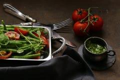 grön sallad för bönor royaltyfria bilder