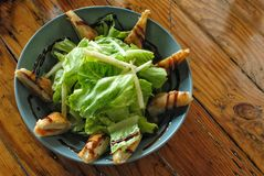 Grön sallad för Tofu Royaltyfri Bild