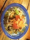 Grön sallad med havreflingor, Okinawa, Japan, mat Fotografering för Bildbyråer