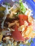 Grön sallad med havreflingor, Okinawa, Japan, mat Royaltyfri Bild