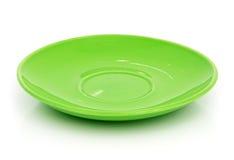 grön saucer Arkivbild