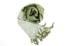 grön scraf Royaltyfri Fotografi