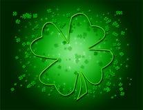 grön shamrock för bakgrund Royaltyfria Bilder