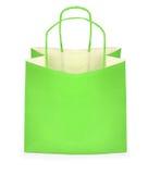 grön shopping för påse Arkivfoton
