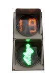 Grön signal av en trafikljus royaltyfria bilder