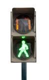 Grön signal av en trafikljus arkivbild