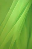 grön silk Fotografering för Bildbyråer