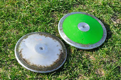 grön silver för diskus Arkivbild