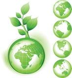 grön simbol för jord royaltyfri illustrationer