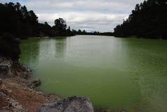Grön sjö Royaltyfri Foto