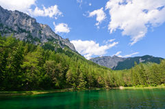 Grön sjö (Grüner ser), i Bruck en derMur, Österrike Fotografering för Bildbyråer