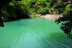 Grön sjö i Abchazien Arkivfoton