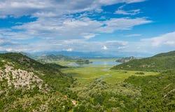 Grön sjö Skadar Royaltyfria Bilder
