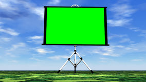 Grön skärm i natur - 3D framför stock video