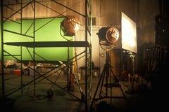 """Grön skärmplats från set av """"frestelsen"""", royaltyfri fotografi"""