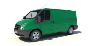 Grön skåpbil Fotografering för Bildbyråer