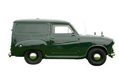 grön skåpbil för leverans royaltyfria bilder