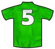 Grön skjorta fem Arkivbilder