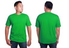 Grön skjortamodellmall arkivfoto
