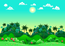 Grön skog. stock illustrationer