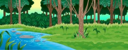 Grön skog Royaltyfria Bilder