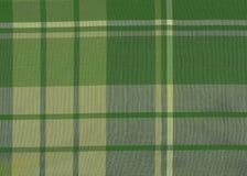 grön skotsk tartan Arkivbilder