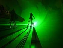 grön skugga för laser-lampa royaltyfria bilder