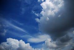 grön sky Arkivbilder