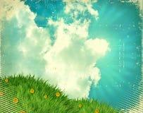 grön skytappning för gräs Royaltyfri Foto