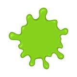 Grön slamfärgstänkfläck Arkivfoto