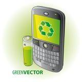 grön smartphone Arkivbild