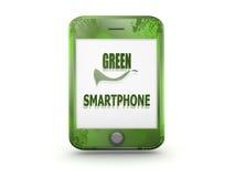 grön smartphone för design Fotografering för Bildbyråer