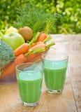 grön smoothie Fotografering för Bildbyråer