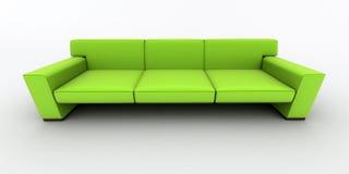 grön sofa Royaltyfri Fotografi