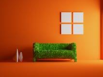grön sofa vektor illustrationer