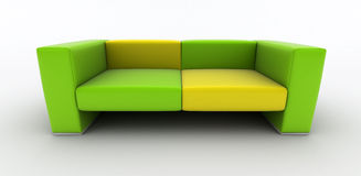 grön sofayellow Royaltyfri Foto