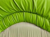 Grön soffatexturnärbild Royaltyfri Fotografi