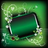 grön sommar för ram stock illustrationer