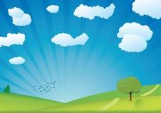 grön sommarvektor Arkivbild