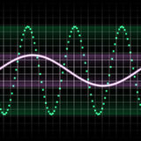 grön sound wave Arkivbild