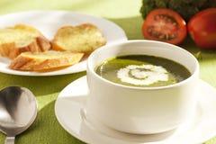 grön soup royaltyfri foto