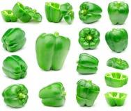 Grön spansk peppar Arkivbilder