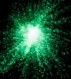 Grön Sparkle Starburst royaltyfria foton