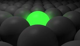 grön sphere Fotografering för Bildbyråer
